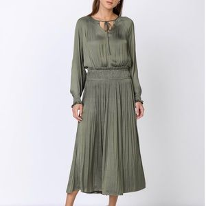 Anthropology Waist Detail Long Dress